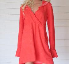 Malin Dress Ecofrotté Corall