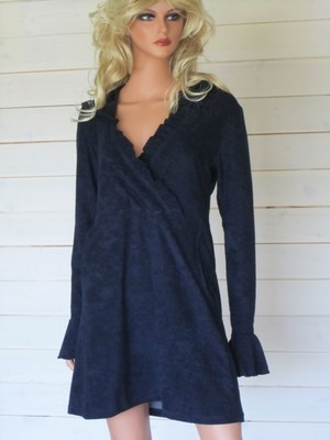 Malin Dress Ecofrotté Navy