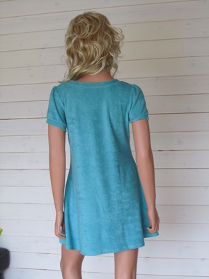 Charlotte Dress Ecofrotté Turkos