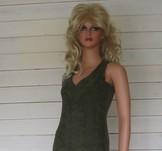 Vera Dress Ecofrotté Khaki